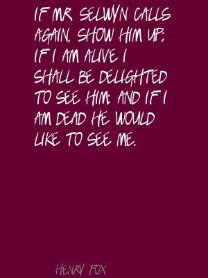 Henry Fox's quote #1