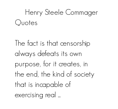 Henry Steele Commager's quote