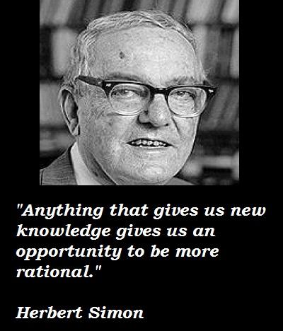 Herbert Simon's quote #3