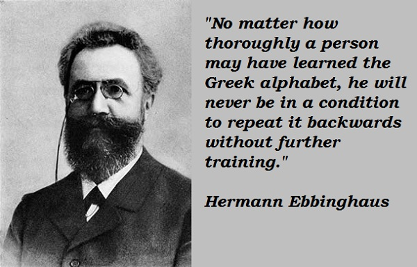 Hermann Ebbinghaus's quote