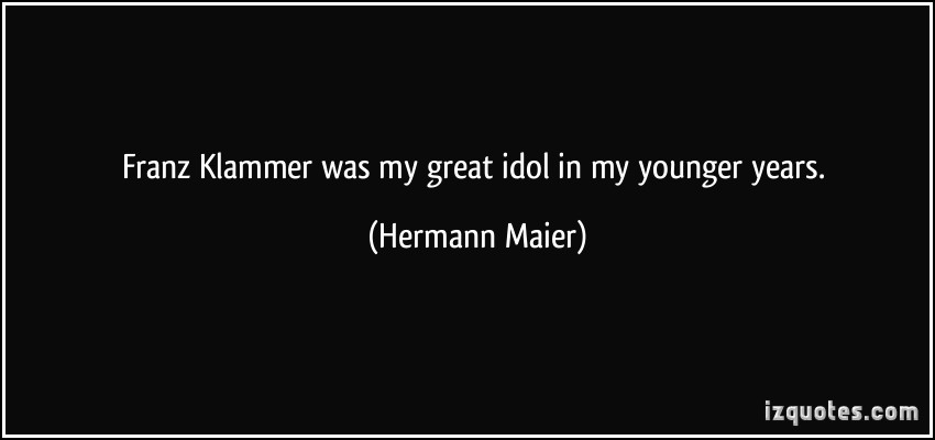 Hermann Maier's quote