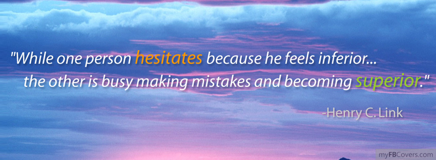 Hesitate quote #3