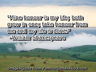 Honour quote #1