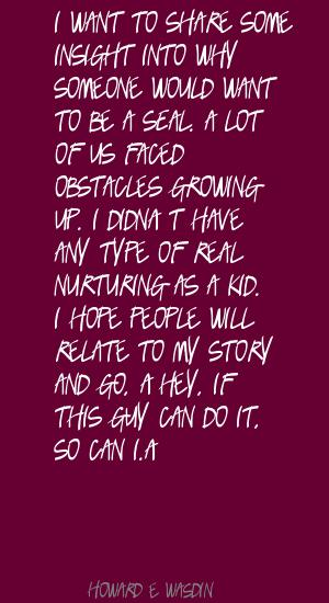 Howard E. Wasdin's quote #4