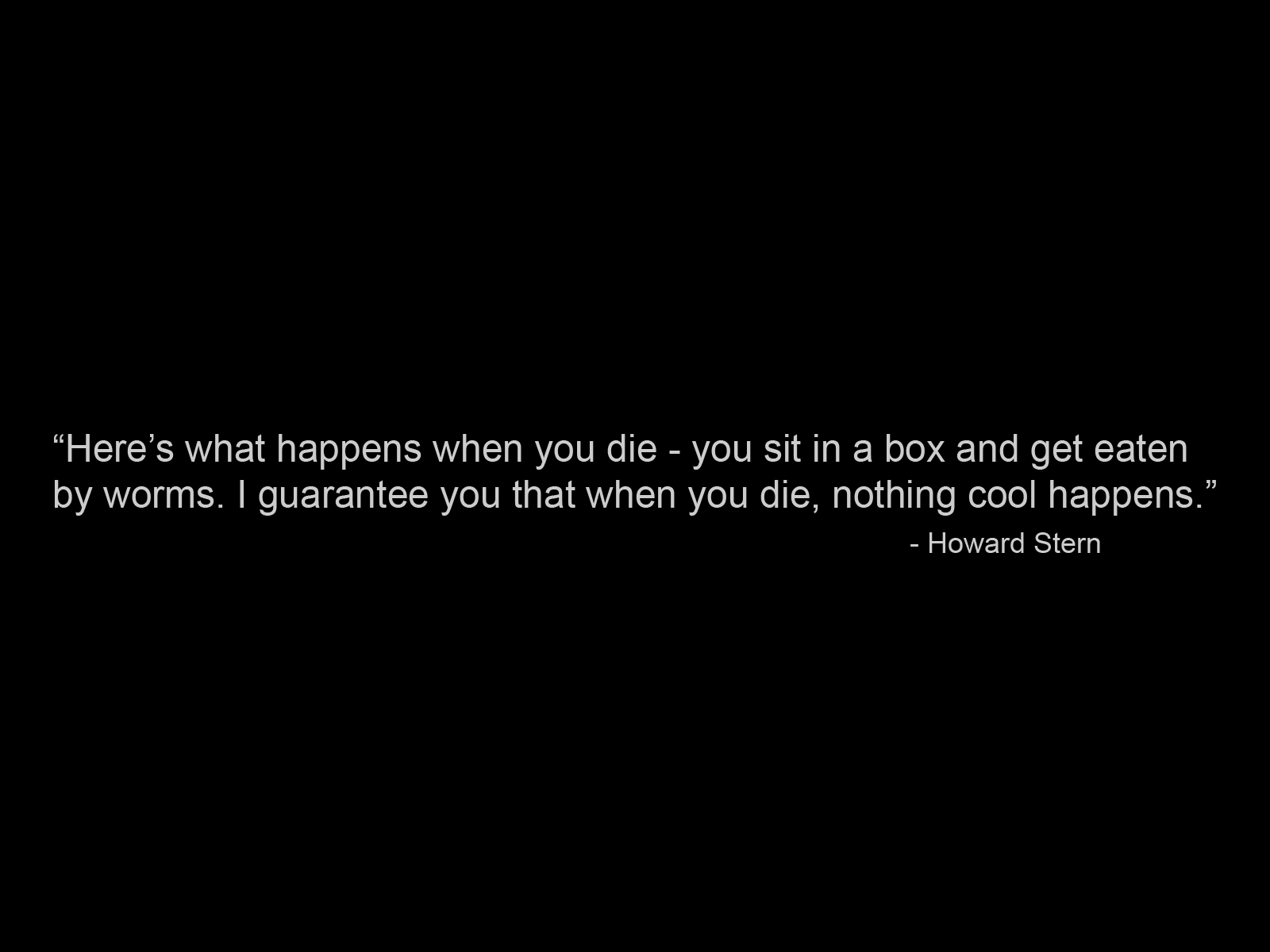 Howard Stern quote #1