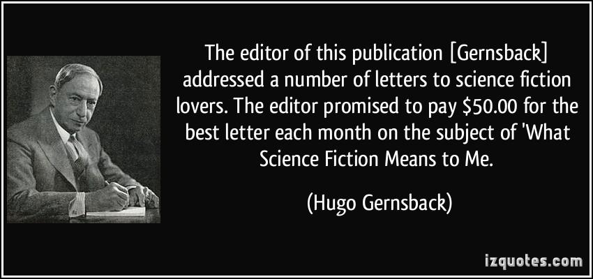 Hugo Gernsback's quote #4