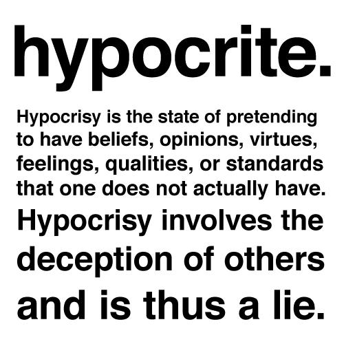 Hypocrite quote #5