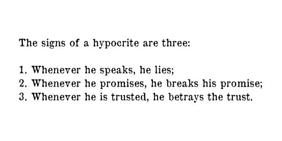 Hypocrite quote #7