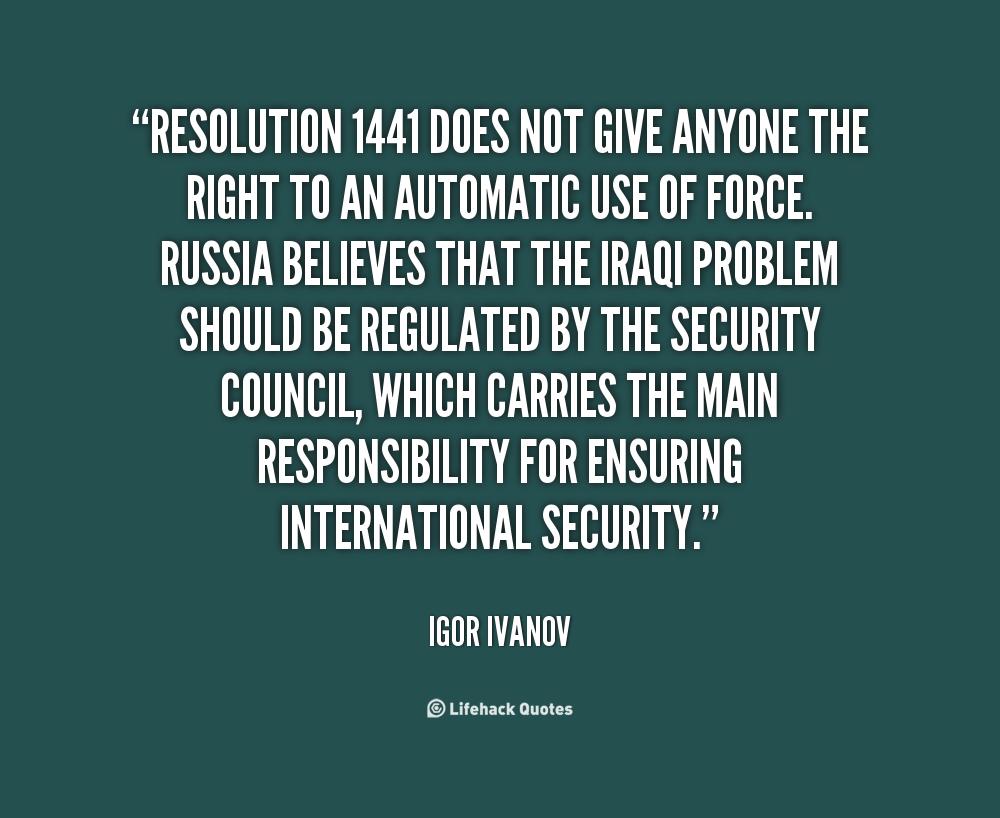 Igor Ivanov's quote