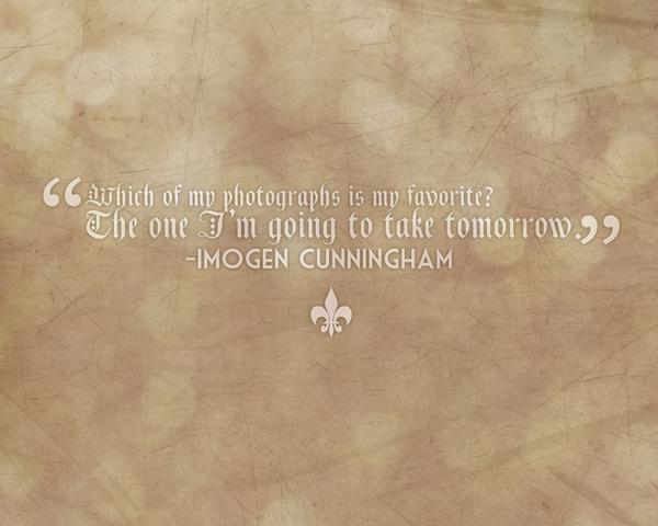 Imogen Cunningham's quote #8
