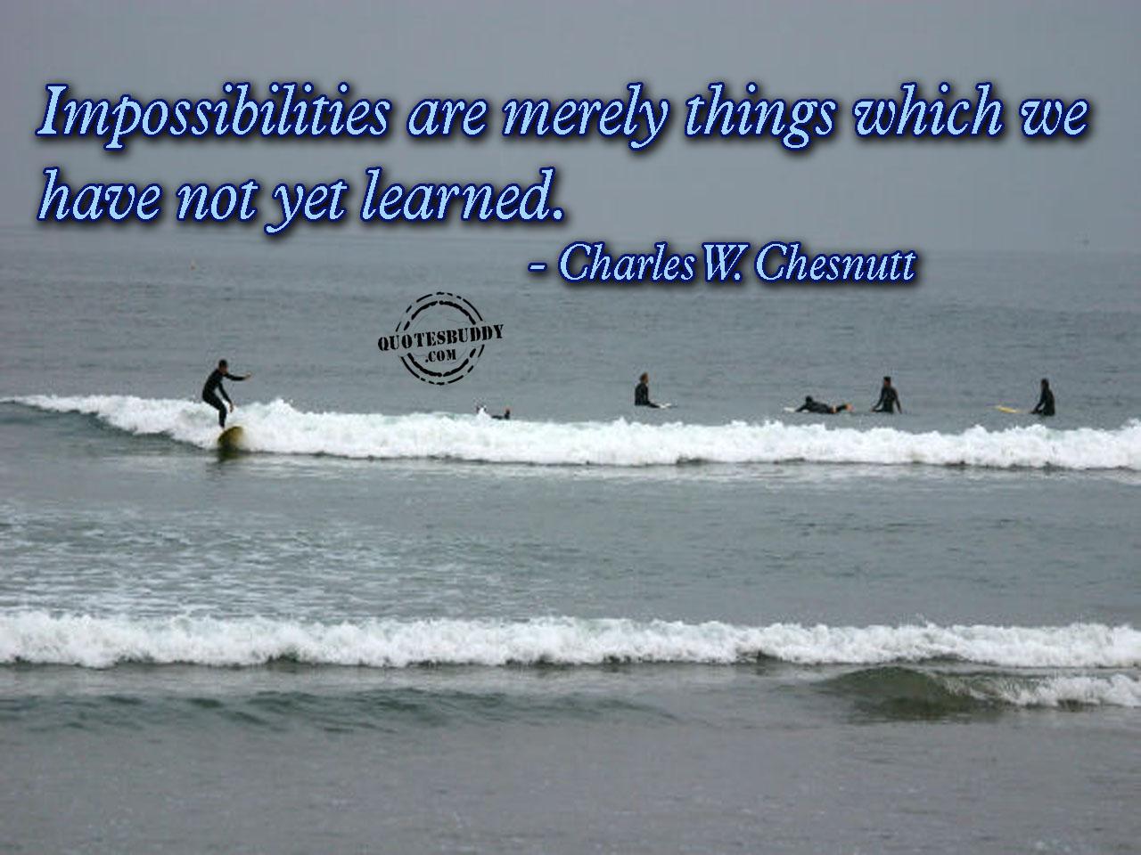 Impossibilities quote #1