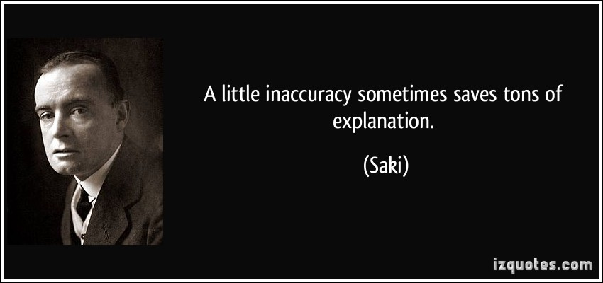 Inaccuracy quote #1