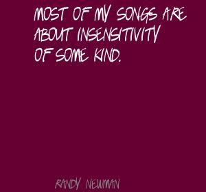 Insensitivity quote #2
