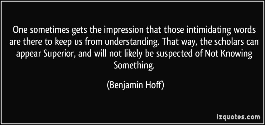 Intimidating quote #1