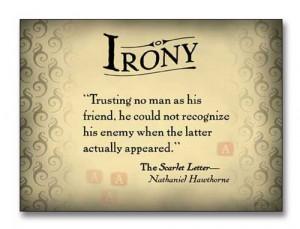 Irony quote #1