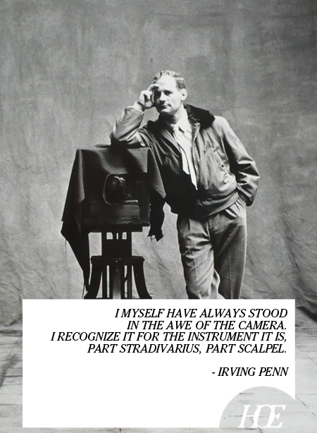 Irving Penn's quote
