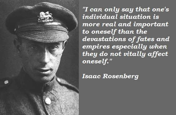 Isaac Rosenberg's quote #1