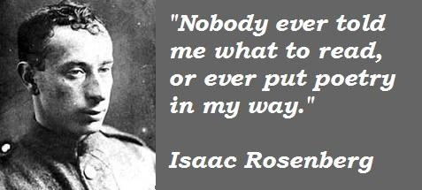 Isaac Rosenberg's quote #4