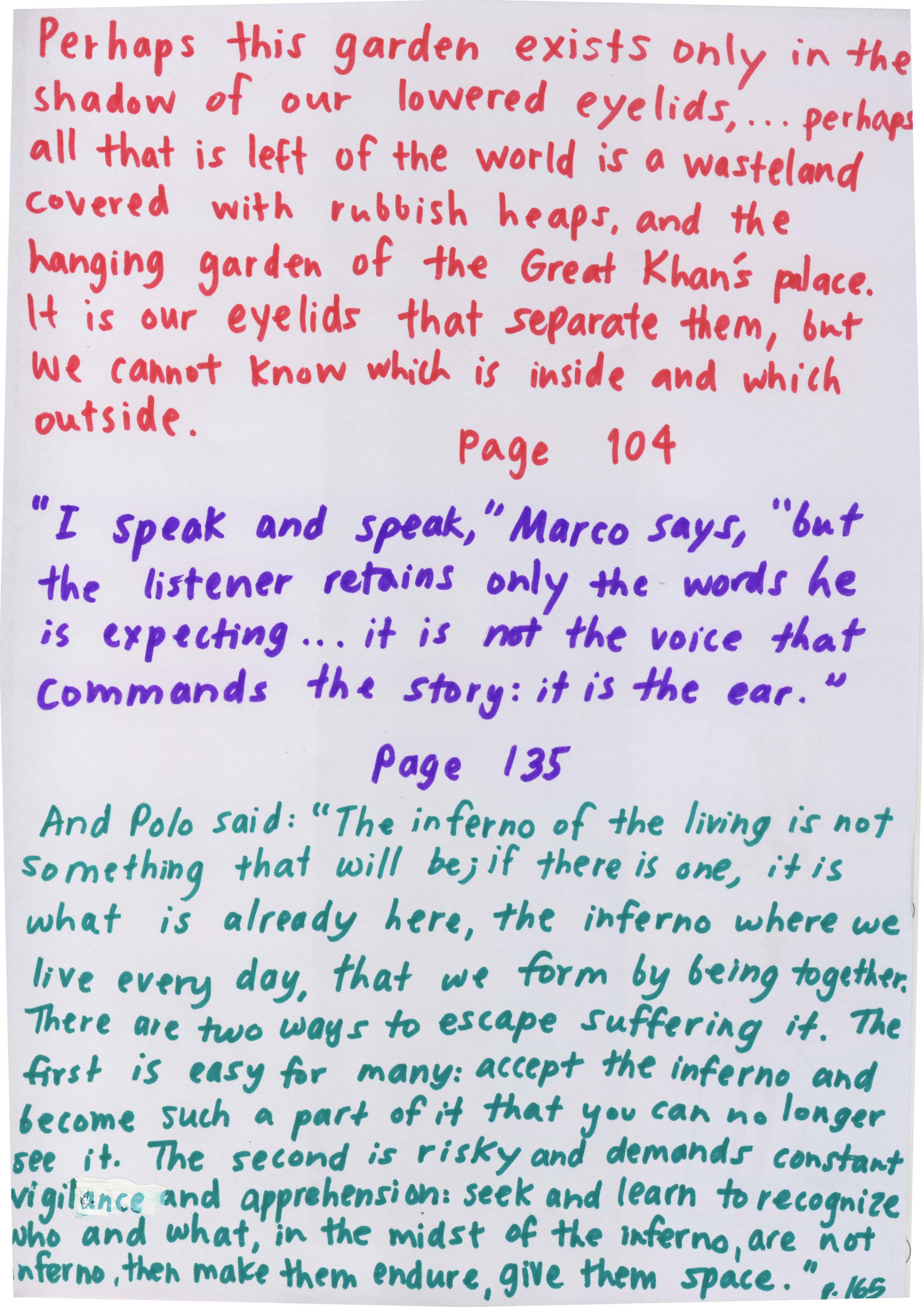 Italo Calvino's quote