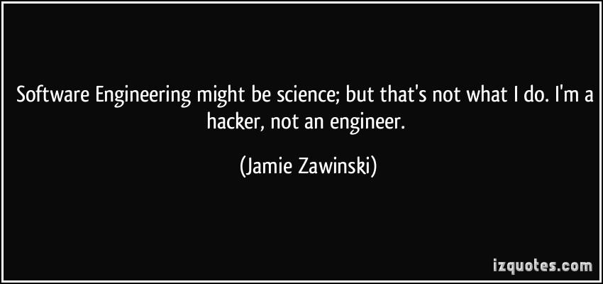 Jamie Zawinski's quote