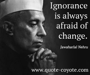 Jawaharlal Nehru quotations