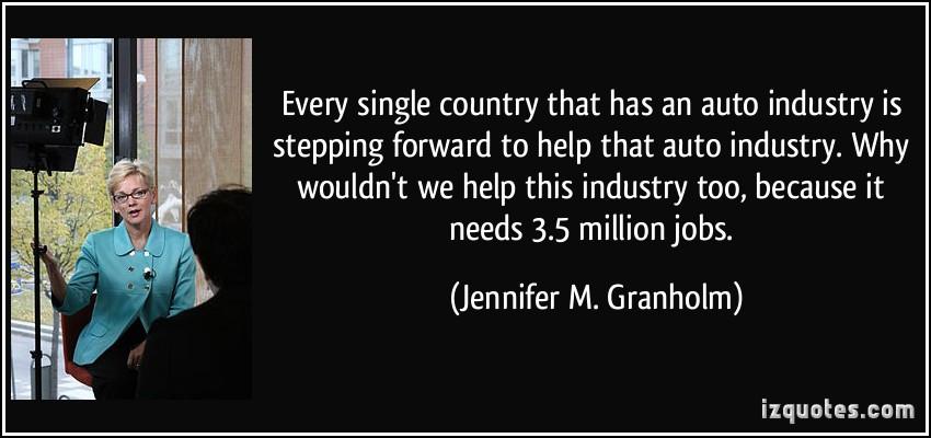 Jennifer M. Granholm's quote #8