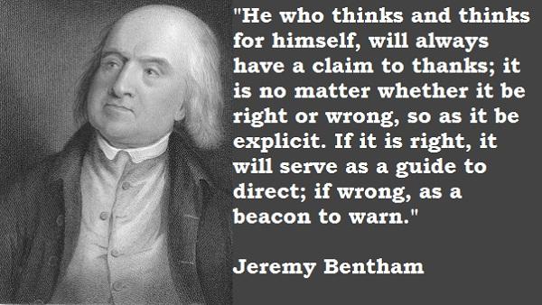 Jeremy Bentham's quote #1