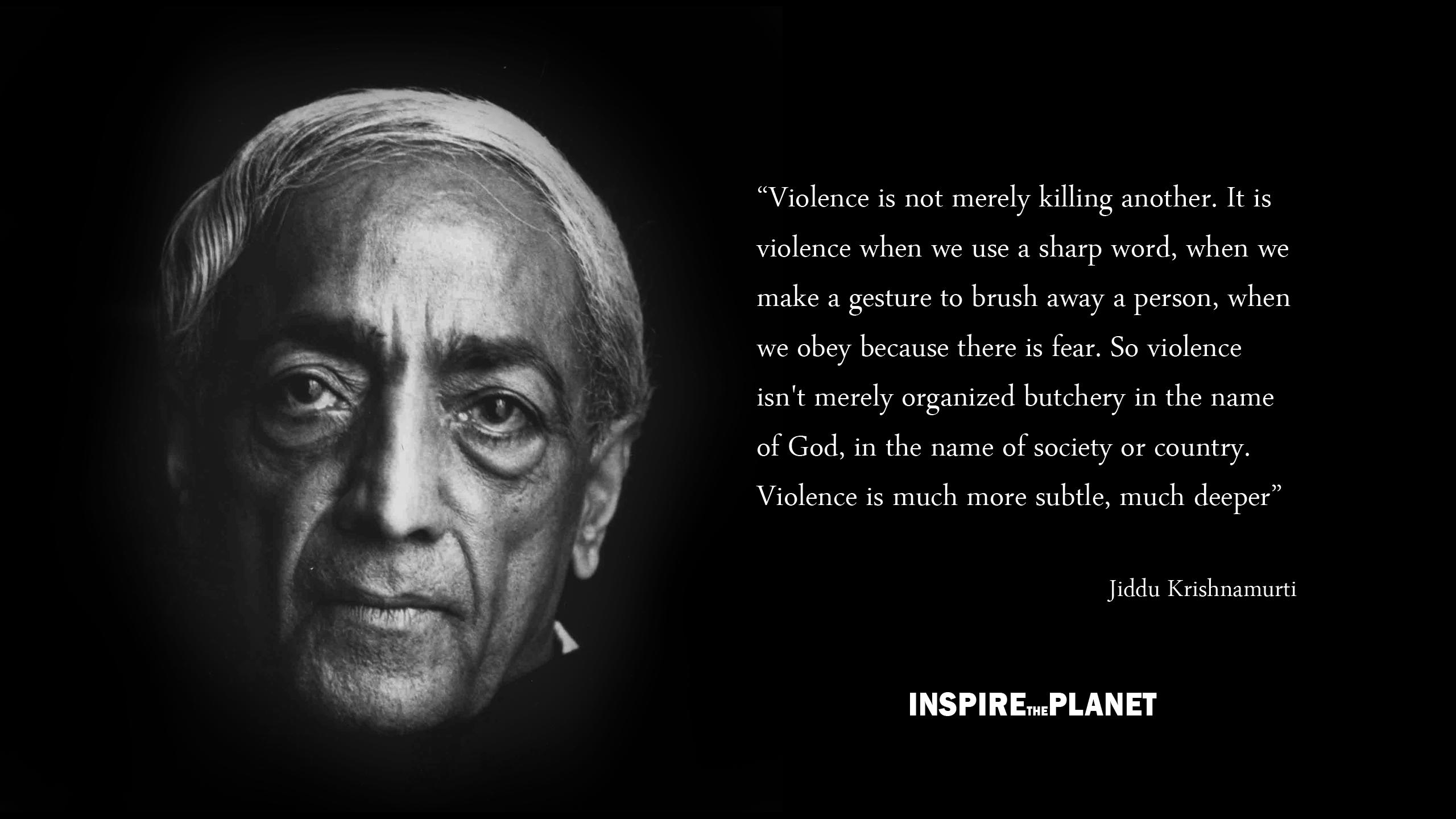 Jiddu Krishnamurti's quote #1