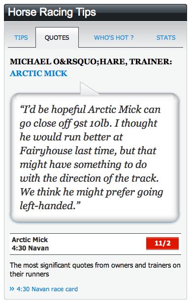 Jockey quote #1
