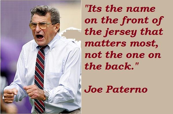 Joe Paterno's quote #1