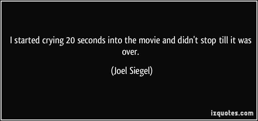 Joel Siegel's quote #2