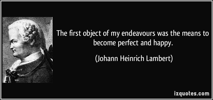 Johann Heinrich Lambert's quote