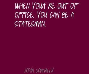John Connally's quote