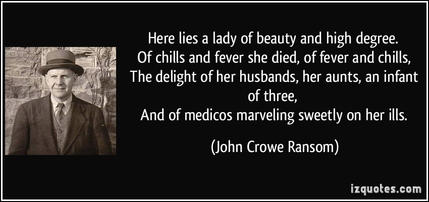 John Crowe Ransom's quote #3