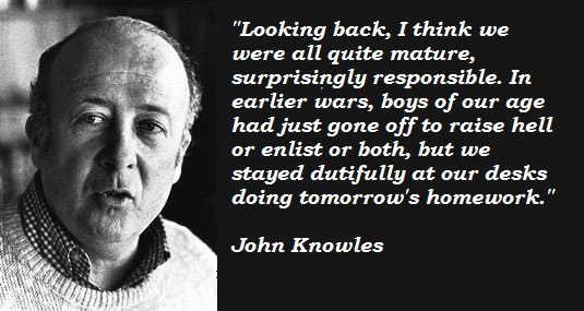 John Knowles's quote #1