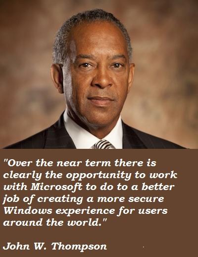 John W. Thompson's quote #3