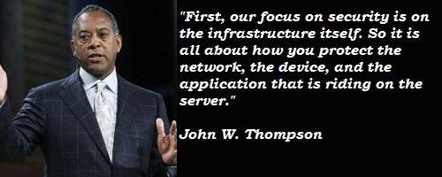 John W. Thompson's quote #5