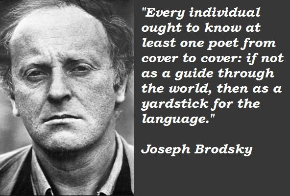 Joseph Brodsky's quote #1