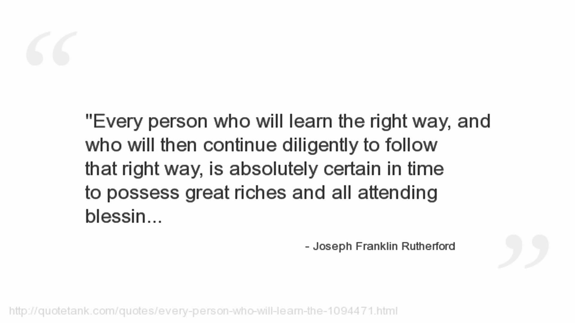 Joseph Franklin Rutherford's quote #7