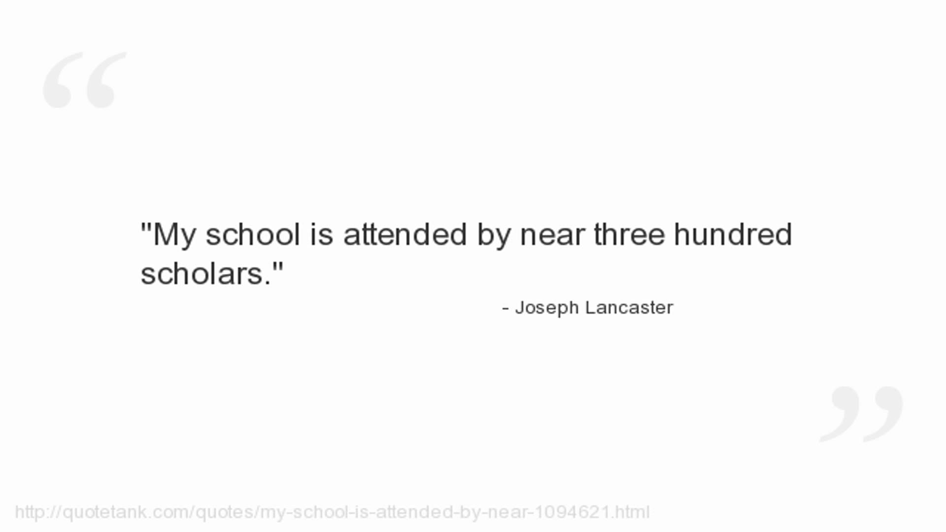 Joseph Lancaster's quote #2