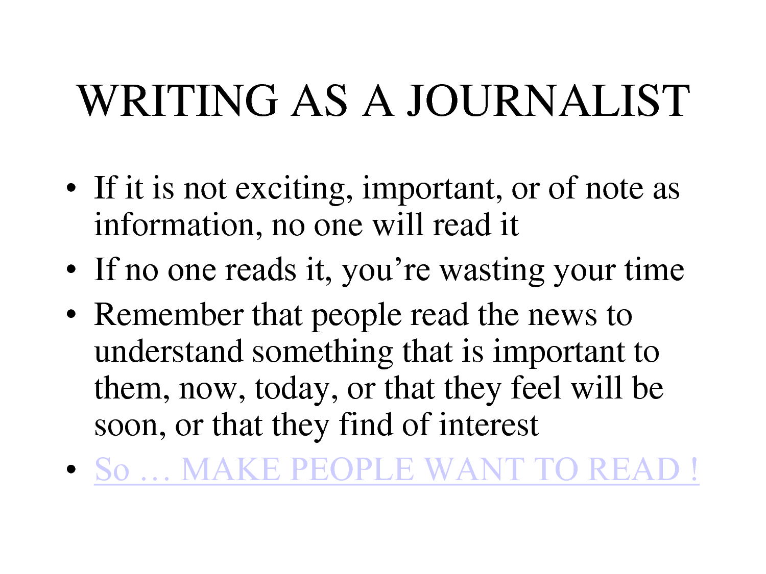 Journalism quote #2