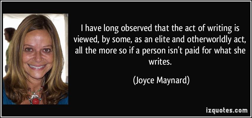 Joyce Maynard's quote #5