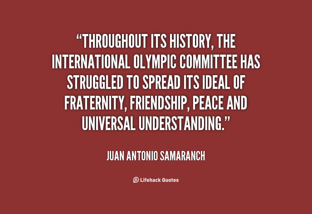 Juan Antonio Samaranch's quote #2