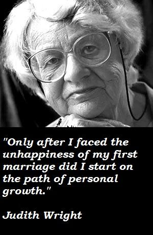 Judith Wright's quote