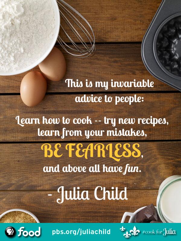 Julia Child's quote