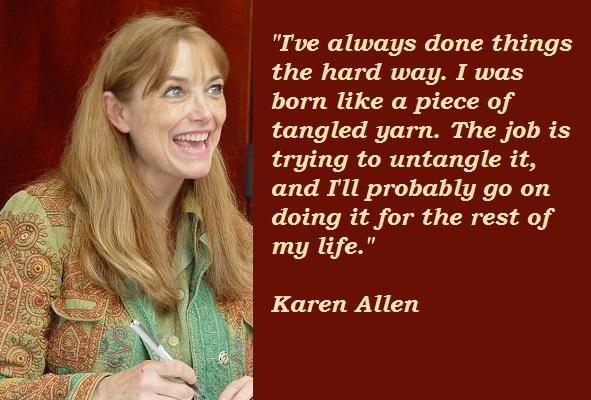 Karen Allen's quote #2