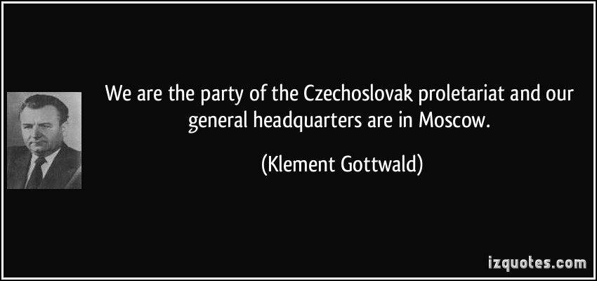 Klement Gottwald's quote #1