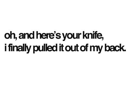 Knife quote #6