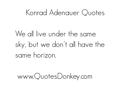 Konrad Adenauer's quote #1