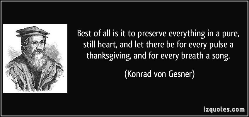 Konrad von Gesner's quote #1